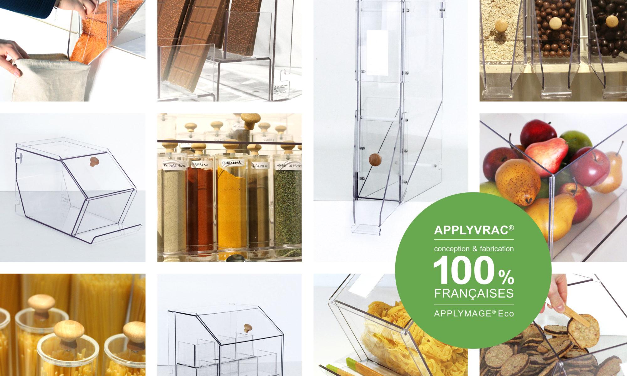 gamme applyvrac - silo distributeur bac pour commerces