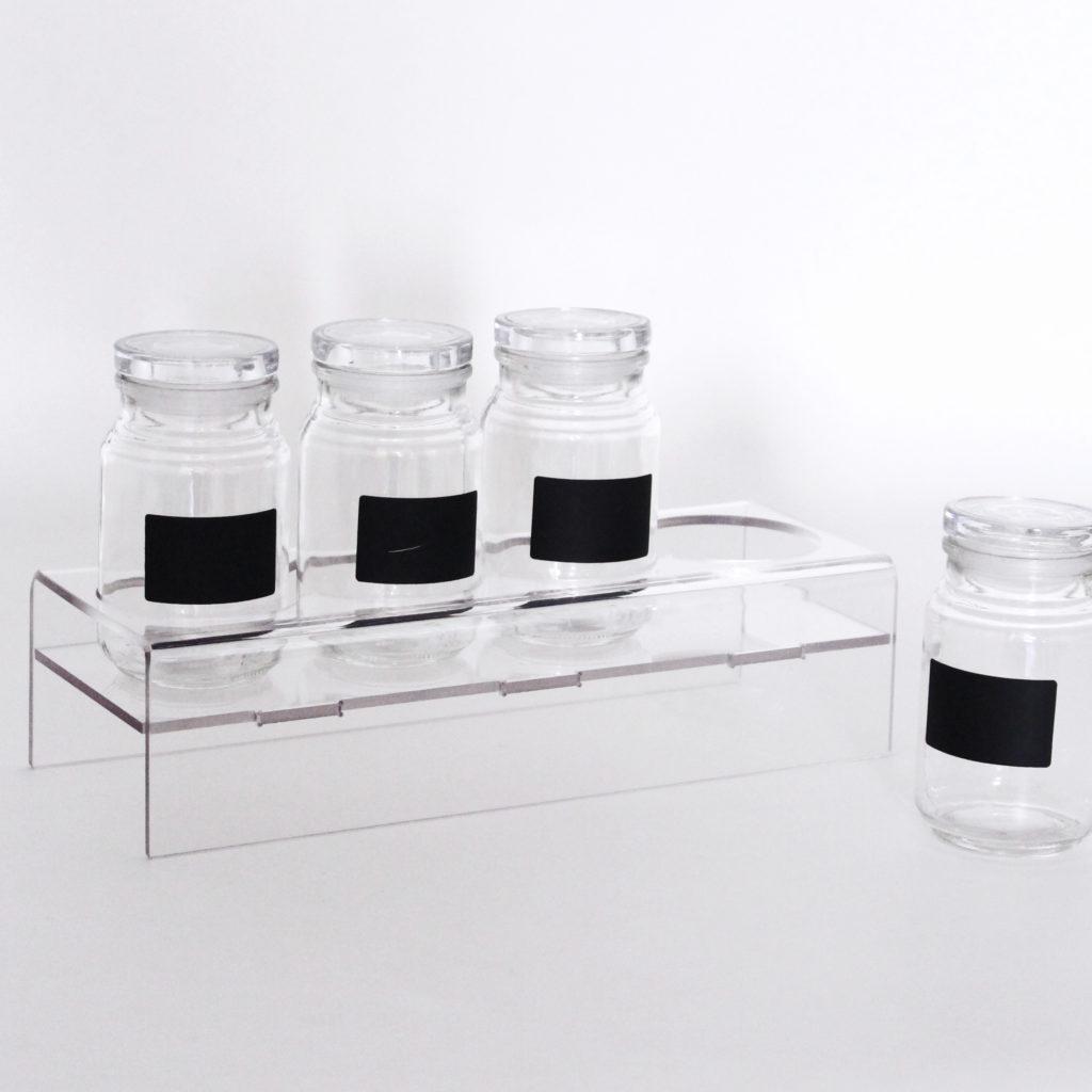 podium contenant vrac sans BPA sur-mesure