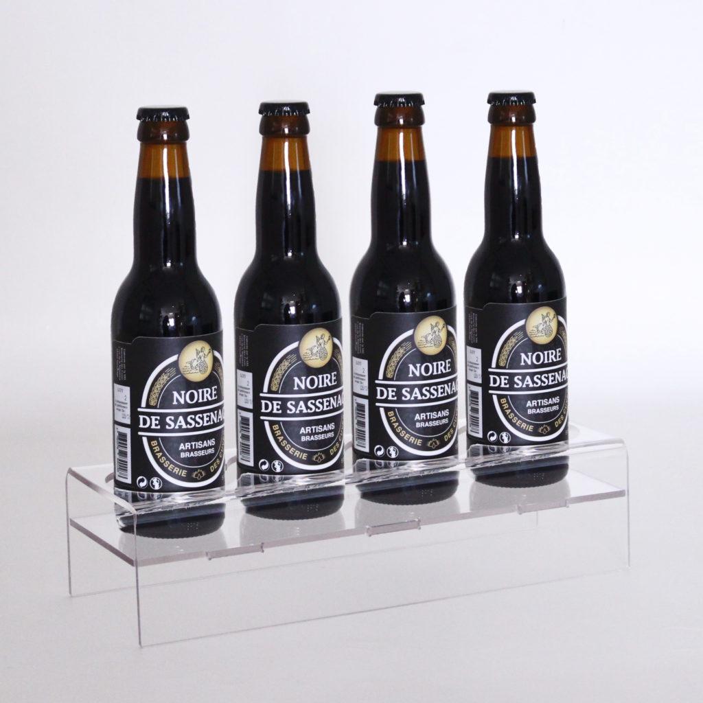 bouteille présentoir bière podium