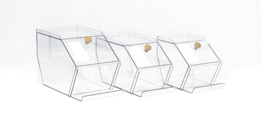 gamme bac 4L 7L 10L pratique bois transparent design made in france